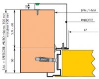Prelungire toc antifoc 201-400 Otel RAL 1013 2 canaturi