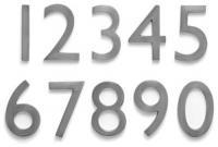 Numar aplicat 1-9 Argintiu 5 cm 3.5 cm