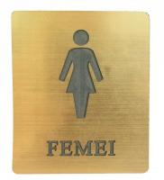 Placuta Toaleta Femei Auriu 7.5 cm 6.5 cm