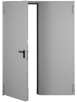 Usa metalica DIERRE T56 Standard Otel 1800(900+900) 2050 2 canaturi RAL 1013 Reversibila