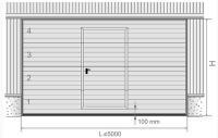 Usa pietonala 800 mm 1850 mm ( completa cu menere aluminiu si cheie, pentru o usa cu L<5000 )